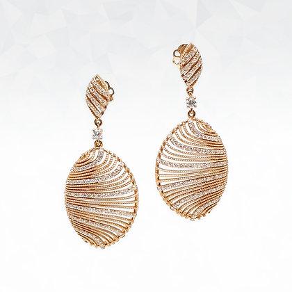 Rose Swirl Diamond Earrings