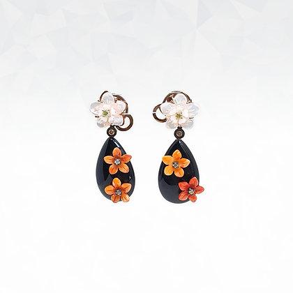Mother of Pearl Floret Earrings