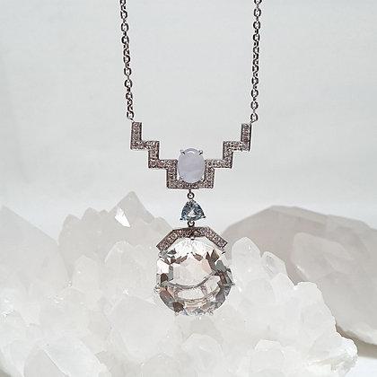 Crystal Quartz Drop Ascend Necklace