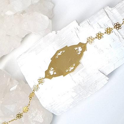 Curlicue Monogram ID Necklace