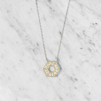 Yellow Gold Hexagon Pendant