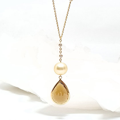 Pearl and Citrine Pendant