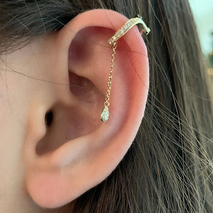 Dangling Diamond Ear Cuffs