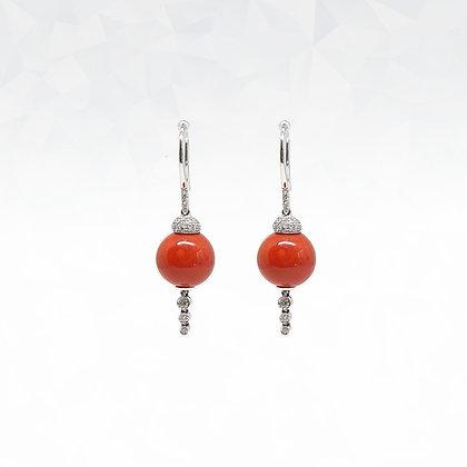 Coral Hook Style Earrings