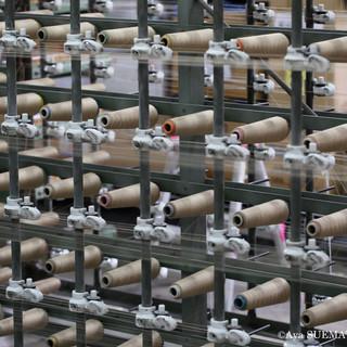 織物工場 整経3