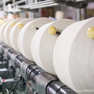 織物工場 緯糸準備