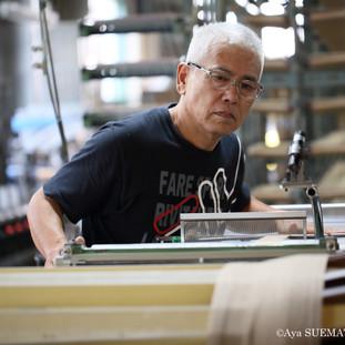 織物工場 整経4