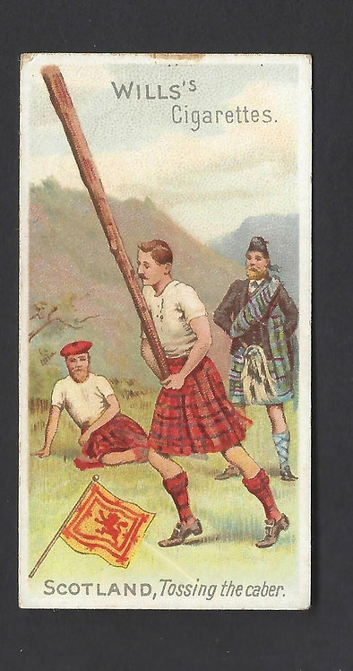 Scotland, Tossing the Caber Wills's Cigarettes Card