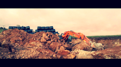 Digger out on site hire