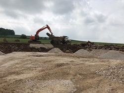 out on site muck shifting