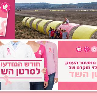 אוקטובר - חודש להעלאת  המודעות לסרטן השד