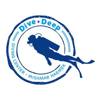 עיצוב לוגו Dive Deep מועדון צלילה משמר העמק