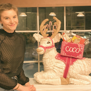 Sustainable Sculpture and Christmas Shop Windows: How I made a plastic-free reindeer!
