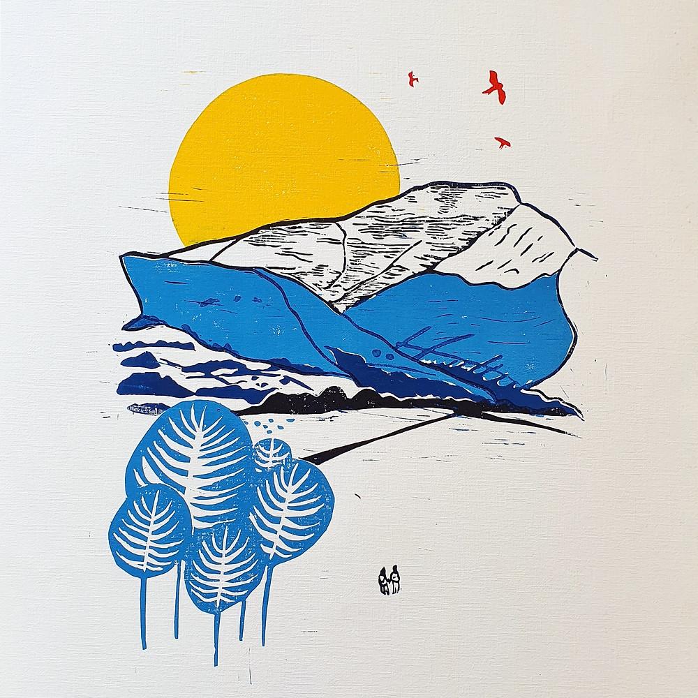 James Horne Hornemade Printmaker Artist Lino Lino Print