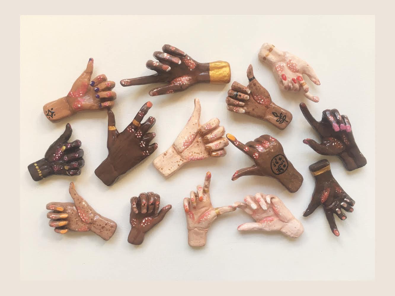 Tiny Hand Clay Jewellery