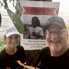 We proudly and lovingly walked the b.strong 5k for our dear friend Bernard today. Miss and love you B.