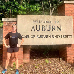Running the mean streets of Auburn, Alabama, this morning in memory of my dear friend, Bernard. You were a light in this world and will never be forgotten.