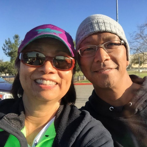 """I once knitted a cap for Bernard after he lost his hair during one of his chemo treatments.  One of his comments was, """"It fits like a condom""""! -Myra Shiroma"""