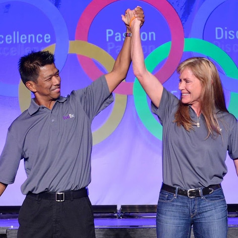 A handful of FedEx staff arranged to surprise the 2013 FedEx Truck Driving Champions at their recognition and celebration dinner with an appearance by Bernard and Dee. The hotel helped us sneak them in through the same back doors used for VIPs and celebrities. The crowd fed off their appearance and words. B was a natural up there on stage. Just like he was in life. -Scott Mugno