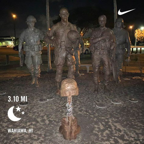 B.Strong 5K complete at Schofield Barracks, HI.  Happy Birthday Bernard. Thank you for inspiring so many people to be better versions of themselves.