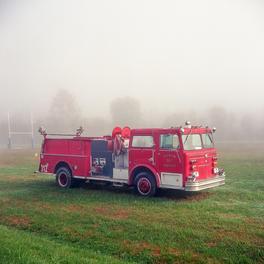 Fire Truck in the Fog