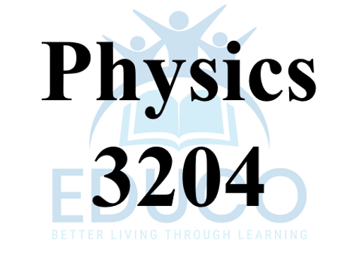 Physics 3204 Review Booklets