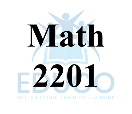Math 2201 Review Booklets