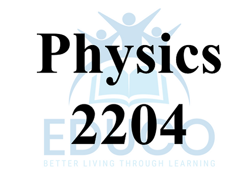 Physics 2204 Review Booklets