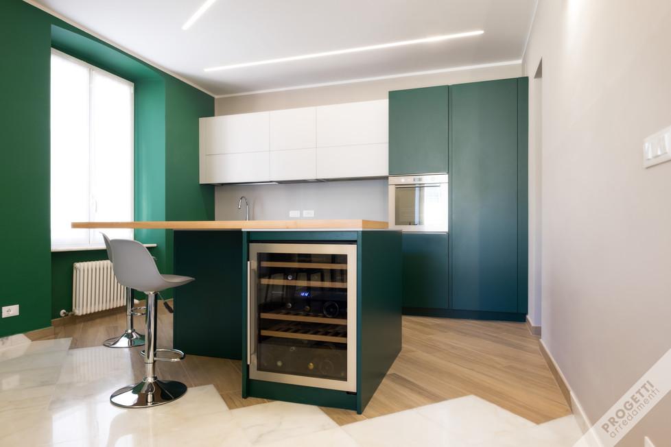 cucina laccata colore RAL