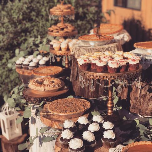 Rustic Dessert Bar Setup