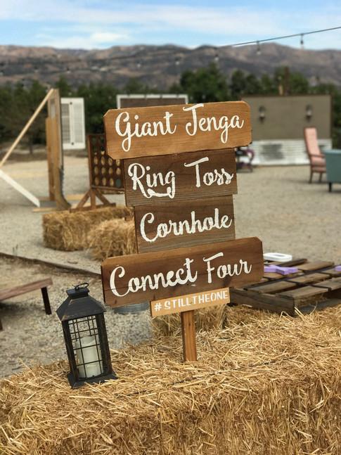 Backyard Game Sign