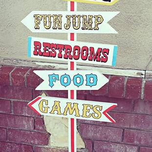 Wood Directional Circus Sign ($15)