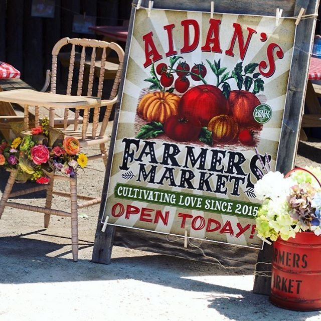 #FarmersMarket party brought to you by Aidan