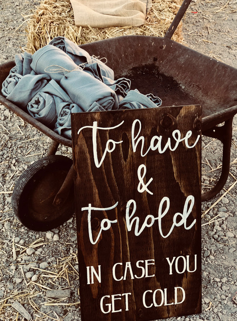 Vintage wheelbarrow. Great to hold blankets, or beverages.   Sign by Nostalgic Glory