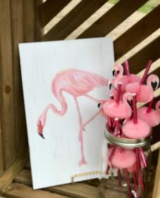 Flamingo Wood Artwork