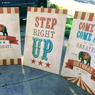 3 circus posters $10 each