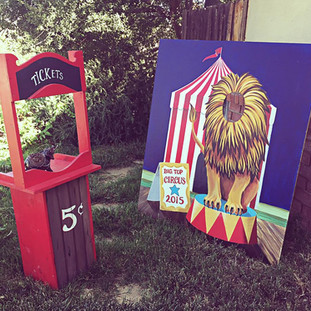 Ticket Booth ($20)  Lion Big Top Photo Prop ($30)