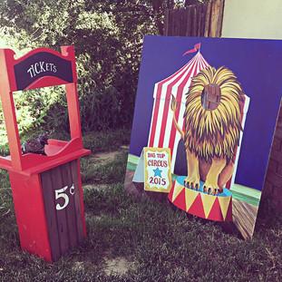 Ticket Booth ($20)  Lion Big Top Photo Prop ($30)