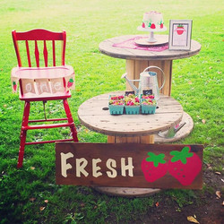 Sneak peak of today's #strawberryparty for a very special #1stbirthdayparty