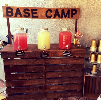 Drink Stand can be personalized for your theme
