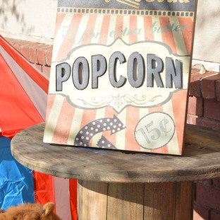 Popcorn Sign ($7) Spool (2 available/ $15)