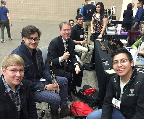 David Shea and friends at TMEA 2016 in San Antonio, TX