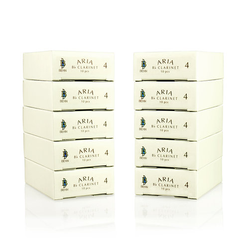 Behn ARIA Bb clarinet reeds – 10 box bundle