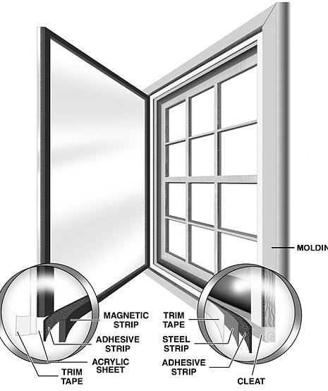 Window savers magnetic interior storm windows installation for Plexiglass interior storm windows
