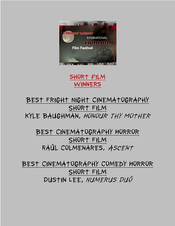 Fright Night SHORT Film WINNERS 2020 - 5