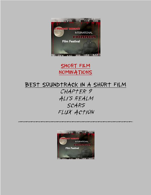 Fright Night Short Film NOMINATIONS 2020