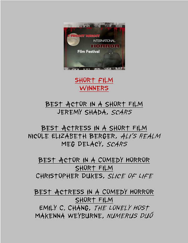 Fright Night SHORT Film WINNERS 2020 - 4