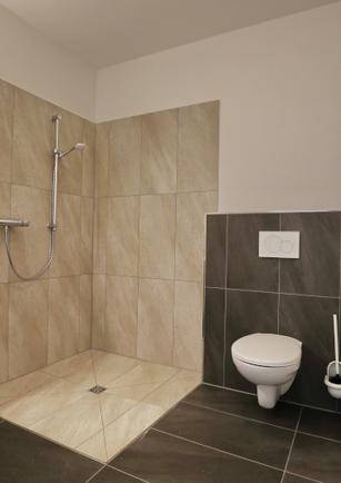 Bad und WC Apartment klein