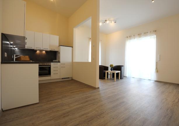 Küche Apartment groß