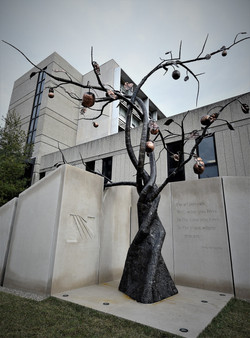 Kaviar forge tree sculpture hospital